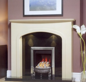 Fireplace, pebble gas fire, Liverpool, Fireplace Showroom